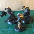 Busy 2017 for The Scythes, wow! But, I have had time to begin painting the Scythes marines of the surviving crew for the Tenax. First up, carefully painted...